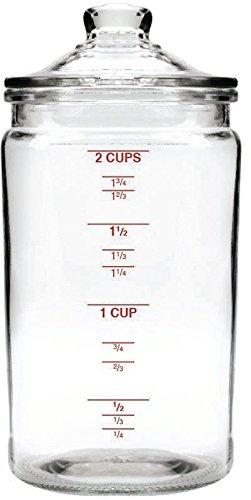 DARNA 97391-Frasco Medidas y Tapa de Cristal, 470 ml, Compuesto, 22