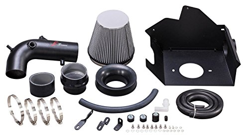 R&L Racing AF Dynamic Black Air Filter Intake Kit 2010-2017 for Chevrolet Equinox/GMC Terrain 2.4L 2.4