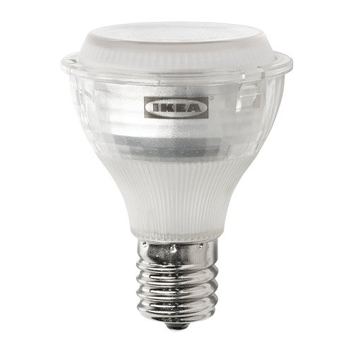 IKEA Ledare 103.658.34 LED Bulb E17 Reflector R14 400 lm Dimmable Warm Dimming (Led Bulb E17 Reflector R14 400 Lm)