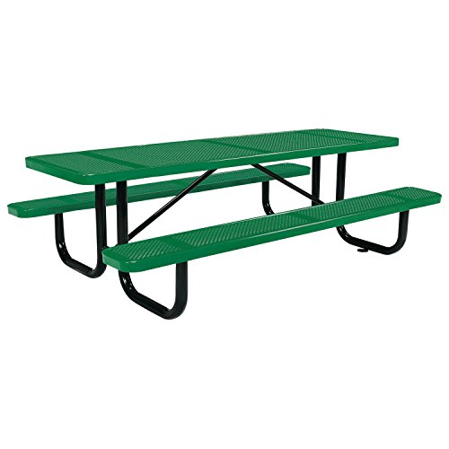 (8' Rectangular Picnic Table, Surface Mount, Green (96