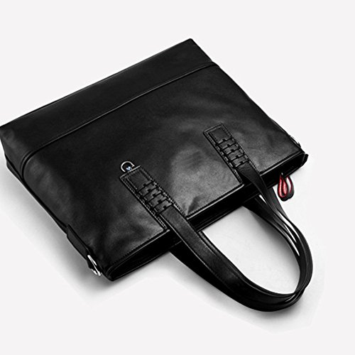 Bag Men Vintage Casual For Briefcase Men's Handbag Qi Business Computer Notebook Leather Bag Bag Leather Satchel Business Suitable xI0qw6F