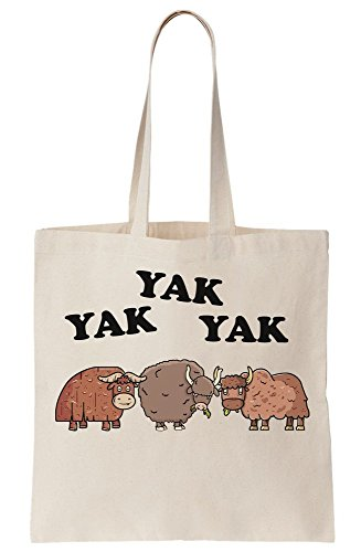 Yak Yaks Three Yak Yak Canvas Tote Bag Saying Cool F1zxq1g