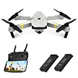 Drones with Camera 720P HD, Global Drone GD88 PRO, Selfie Pocket Drone with Altitude Hold, One Key Take Off/Landing, Wi-Fi FPV Quadcopter Drones for Adults, Beginners - (2 Batteries)