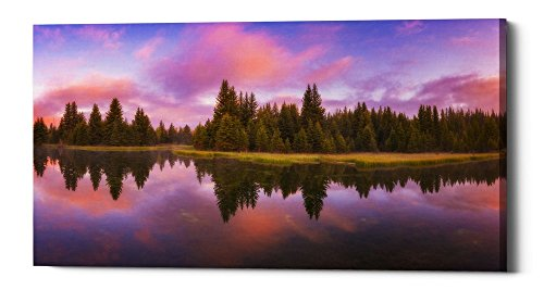 Epic Graffiti Snake River Sunrise by Darren White Giclee Canvas Wall Art, 30'' x 60'' by Epic Graffiti