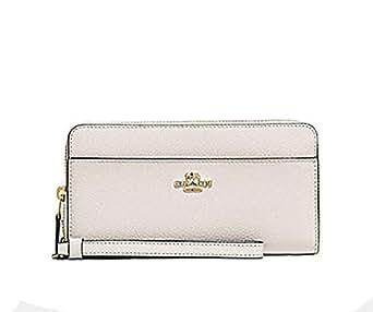 Coach Accordian Leather Zip Wallet Wristlet - #F76517 - Chalk