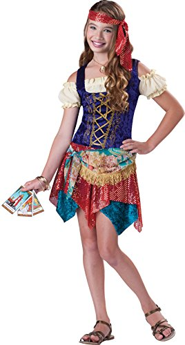 Girls Gypsy'S Spell Kids Child Fancy Dress Party Halloween Costume, S (8-10)