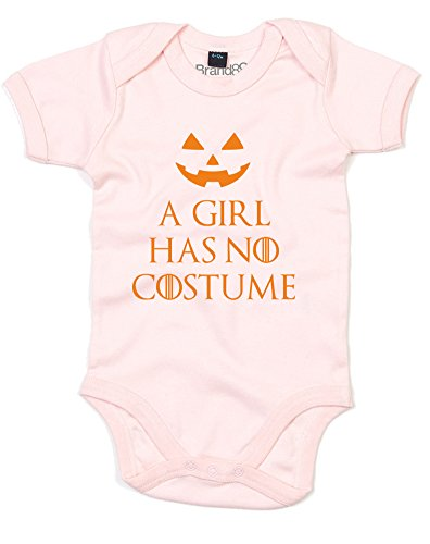 Witches Costume Pinterest (A Girl Has No Costume, Printed Baby Grow - Powder Pink/Orange 6-12 Months)