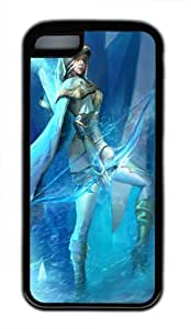 Customizablestyle League of Legends Ashe-3 iPhone 5C TPU Black Rubber Shell Case
