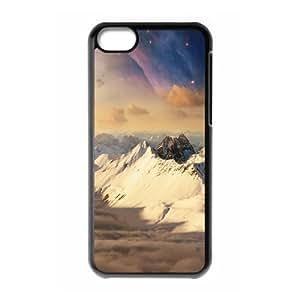 XiFu*Meiipod touch 4 Case,Sci Fi Nebula Sky Over Mountains Hard Shell Back Case for Black ipod touch 4 Okaycosama370907XiFu*Mei