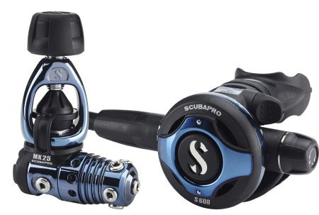 Scubapro MK25/S600 Deep Blue Titanium Core Scuba Regulator ()