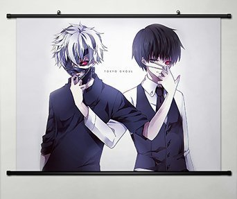 Tokyo Ghoul Home Decor Anime Kaneki Ken Poster Fabric Painting Japanese  Cosplay 23 6 x 17 7 inches - 117