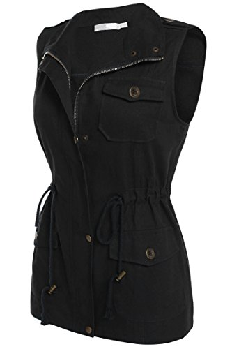 Peatao Women's Sleeveless Lightweight Zip up Anorak Vest with Pockets (Womens Vests With Pockets)