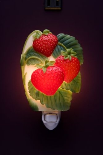 Strawberries Night Light Ibis and Orchid Design Collection