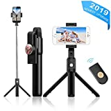 Best Bluetooth Selfie Stick Iphones - Selfie Stick Tripod with Bluetooth Wireless Remote Review