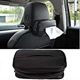Xeroy Car Tissue Holder Universal Backseat Tissue Box Organizer Storage Car Napkin Holder PU Leather for Car,Vehicle Exquisite Workmanship(Black) Welcoming