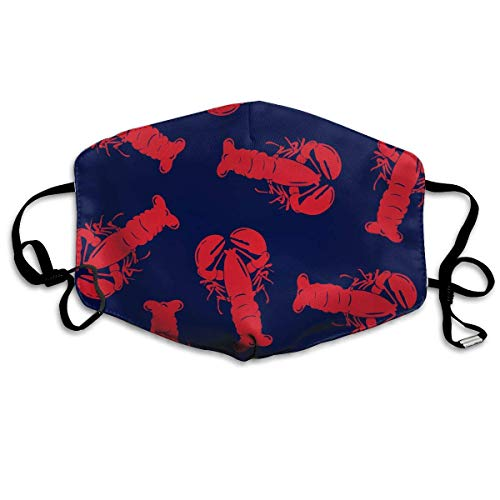 Boardshorts Red Lobster Washable Reusable Safety Mask, Cotton Anti Dust Half Face Mouth Mask for Kids Teens Men Women Lovers Dustproof with Adjustable Ear Loops