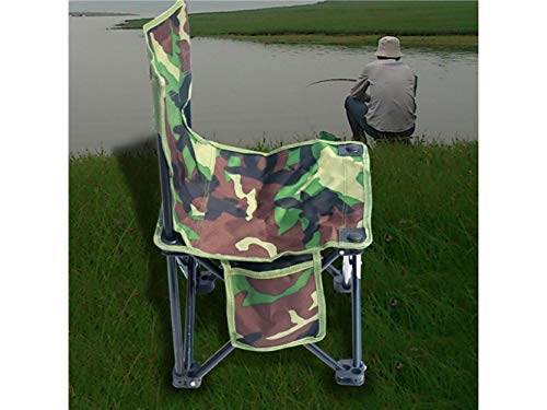 Pullic Portable Folding Fishing Chair Recliner Camping Chair for Outdoor and Fishing(Camouflage) by Pullic