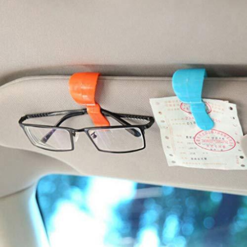 Winner666 2019 2pc Portable Multi-purpose Car Glasses Clip Car Sunglasses Bill Clip (C)