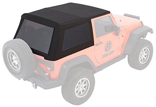 Bestop 54922-17 Black Twill Trektop NX Glide Convertible Soft Top for 2007-2018 Wrangler 2-Door - 2 Door Convertible