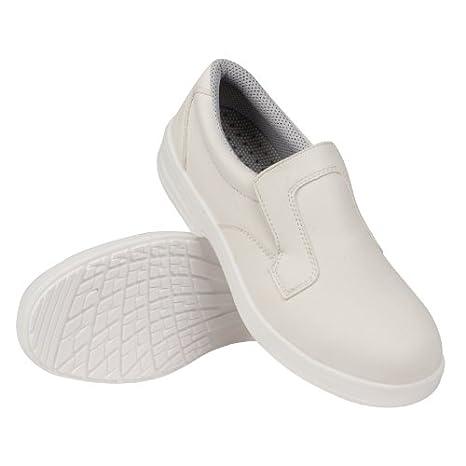 Lites Safety Footwear A801–40slip on, bianco