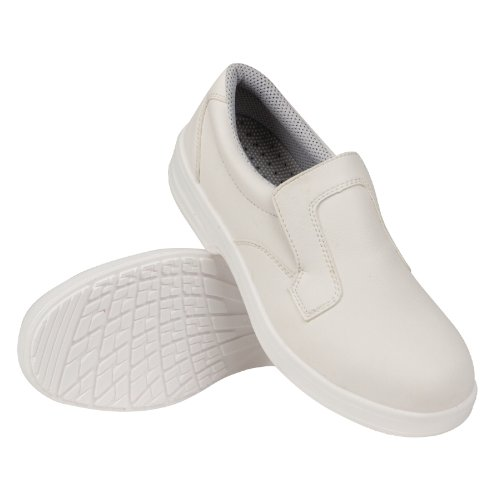 Lites Safety Footwear A801–41 Slip on, Blanc