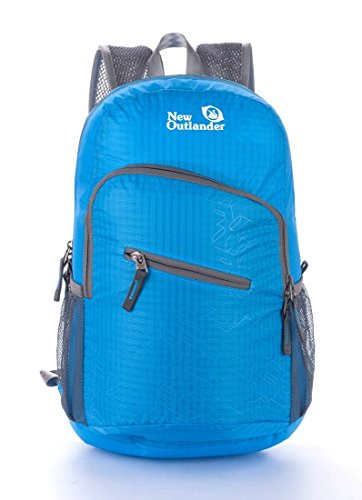 Wenseny - Packable Handy Lightweight Travel Backpack Daypack - Outlander-2212-Blue-ONE SIZE