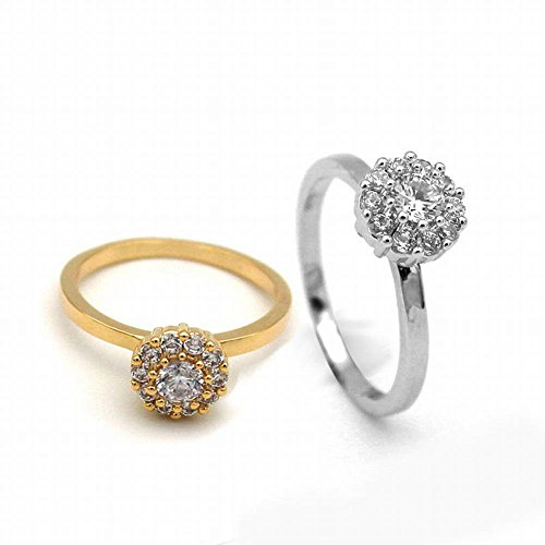 fc50b81b71e4 Corona Simple Micro-Ajuste Anillo de Diamantes Pareja Anillo de ...