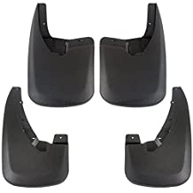 Premium Heavy Duty Molded 2009-2017 Dodge Ram Splash Mud Flaps Guards Front Rear 4 piece Set (WITHOUT Fender Flares)