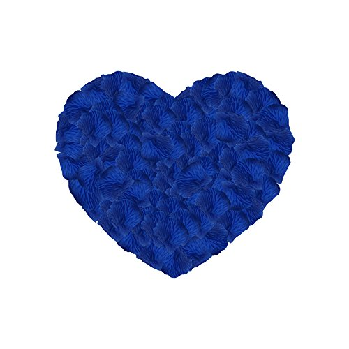 (Neo LOONS 1000 Pcs Artificial Silk Rose Petals Decoration Wedding Party Color Sapphire Blue)