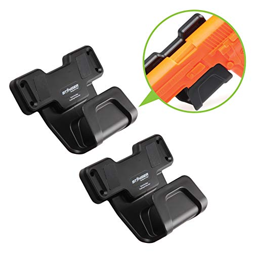 Stinger Safety Trigger Guard Protection Magnetic Gun Holder, Easy Conceal in Car, Truck, Vehicle, Desks, Safes, Walls, Handgun Rifle Shotgun Pistol Revolver, Gun Mount Rack (2 Pack) - Magnetic Trigger Kits