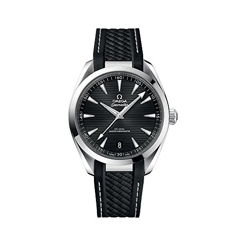 Omega Seamaster Aqua Terra Black Dial Automatic Mens Rubber Watch 220.12.41.21.01.001