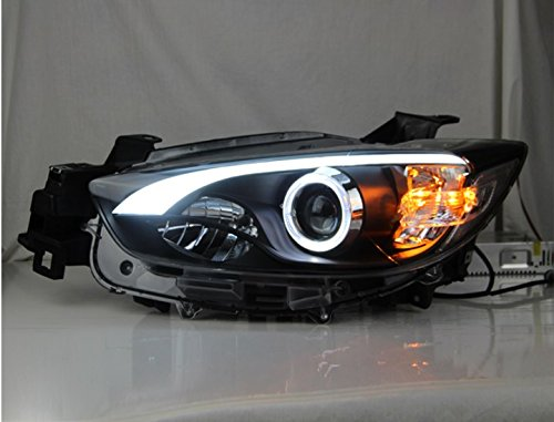 GOWE Car Styling for Mazda CX-5 Headlights 2011-2015 CX5 LED Headlight DRL Bi Xenon Lens High Low Beam Parking Fog Lamp Color Temperature:4300k;Wattage:55w 0