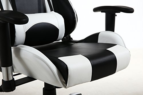 Beautiful BTEXPERT Executive PU Leather High Full Back Racing Office Chair Gaming  Chair Adjustment Headrest Lumbar Pillow Support