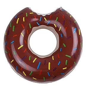 SXC Flotador Hinchable con Forma de Donut,Rueda Hinchable Donut ...