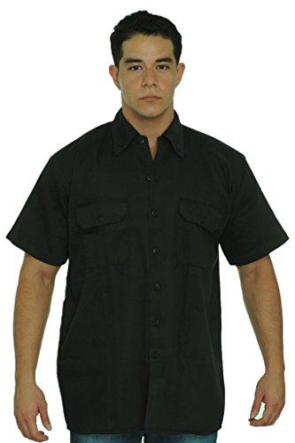 - Biker Mechanic Work Shirt Worldclass Motorcycles Since 1908 USA Eagle (5X) Orange/Black