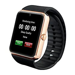 Techcomm Gt08 Smart Watch With Camera, Bluetooth, Gsm Unlocked, Pedometer