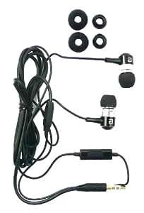 Langston ® Metal Negro Earbuds Sonido De Alta Definición En La Oreja Auriculares Manos Libres Estéreo Con Micrófono Apto Para Samsung Galaxy Pocket S5300