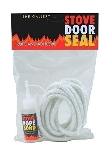 The Gallery Stove Door Seal/Rope Replacement Kit 6mm, wood burner Percydoughty