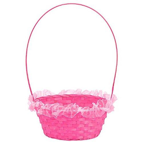 Amscam Ruffled Straw Basket, 16