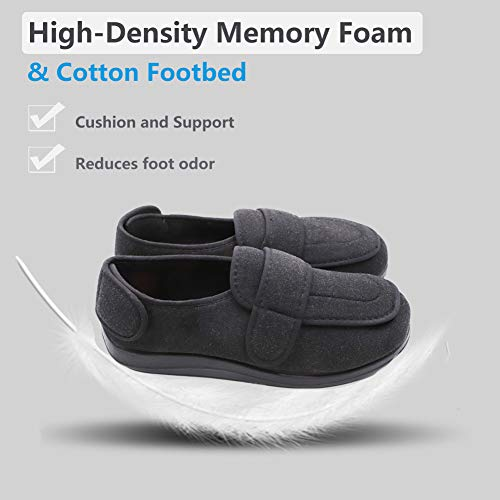 14568f5fa0a15 MEJORMEN Mens Diabetic Slippers Extra Wide with Adjustable - Import ...