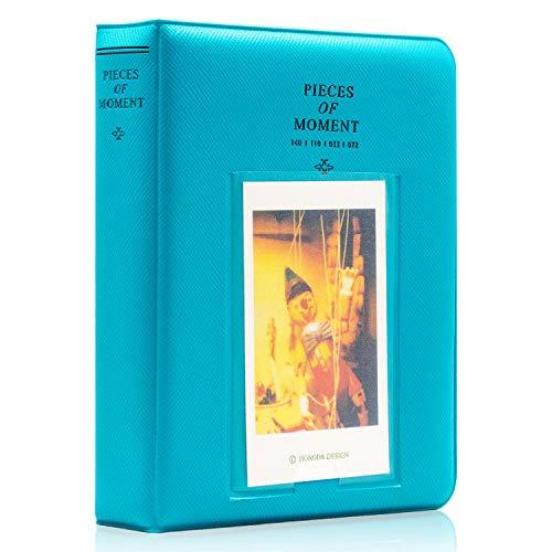 Ablus 64 Pockets Mini Photo Album for Fujifilm Instax Mini 7s 8 8+ 9 25 26 50s 70 90 Instant Camera & Name Card (Blue-Green)