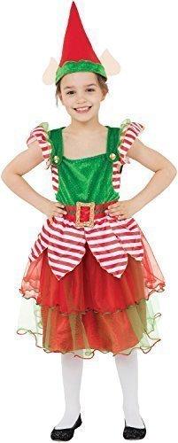 Bristol Novelty Traje de Niña elfo (L) Edad aprox 7-9 años ...