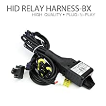 HID-Warehouse Bi-Xenon HID Kit H4 Hi/Lo Bi-Xenon Controller Relay Harness Wire Control 12V 35W/55W Light Lamp Controller 130279