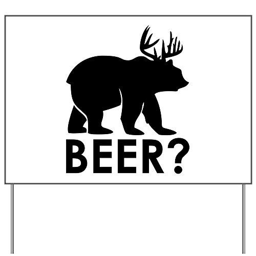 Yard Sign Deer Plus Bear Equals BEER!