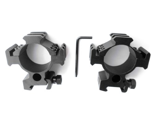 Ade Advanced Optics 35mm Tactical Mounts/Rings (Pair) for Rifle Scope Picatinny Rails on Three Sides