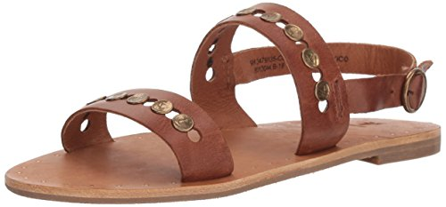 FRYE Womens Ally 2 Band Hammered Stud Sling Sandal