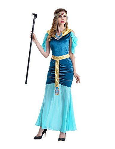 Uleade Egyptian Roman Greek Goddess Halloween Costume For Women Ancient Gown ()