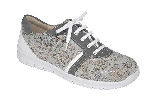 Chaussures Lacets À Ville De Femme Gris Finn Comfort Pour X7q5w6