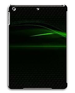 iPad Air Green Abstract N001 PC Custom iPad Air Case Cover Black