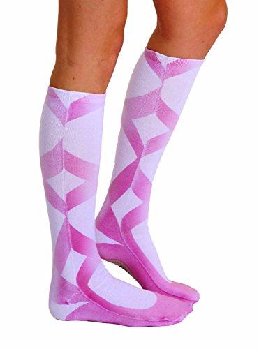 Ballerina Slipper Photo Print Knee High Socks